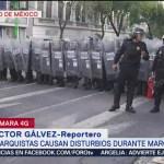 FOTO: Anarquistas Agrenden Policías SSP-CDMX