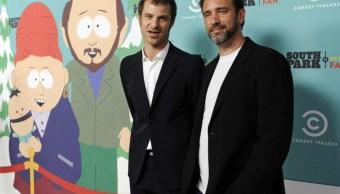 Imagen Matt Stone y Trey Parker, creadores de South Park, 26 de septiembre de 2019 (AP Photo/Chris Pizzello)