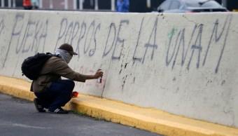 Foto: Protestas en la UNAM contra los porros, 21 de septiembre de 2019 (AP, archivo)