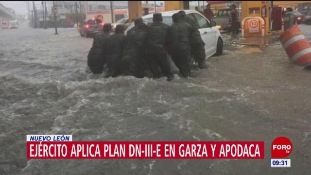 Aplican plan DN-III por tormenta 'Fernand' en Nuevo León