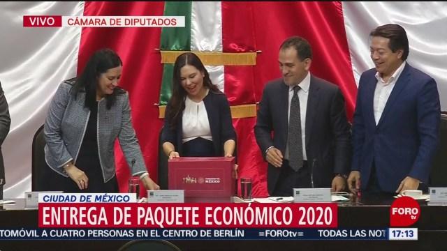 FOTO: Arturo Herrera entrega del Paquete Económico 2020, 8 septiembre 2019