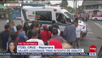 Foto: Asalto Avenida Morelos Mujer Lesionada Hoy 5 Septiembre 2019