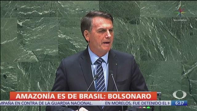 Asegura Bolsonaro que la Amazonia no está devastada