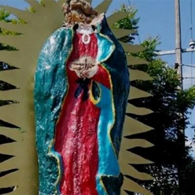 Arrancan manos y cara a Virgen de Guadalupe en Sinaloa