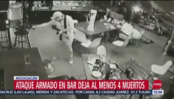 Foto: Video Ataque Armado Bar Uruapan Deja Cuatro Muertos, 21 de septiembre de 2019