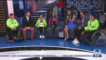 Atletas mexicanos, triunfadores de Juegos Parapanamericanos, en Al Aire