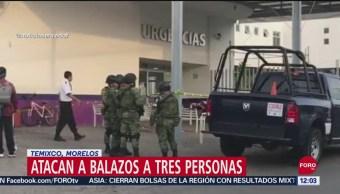 Balean a tres personas frente a un hospital de Temixco, Morelos