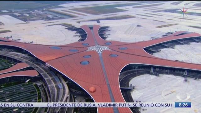 Beijing estrena aeropuerto, uno de los más grandes del mundo