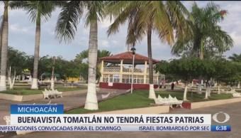 Buenavista Tomatlán, Michoacán, no tendrá fiestas patrias