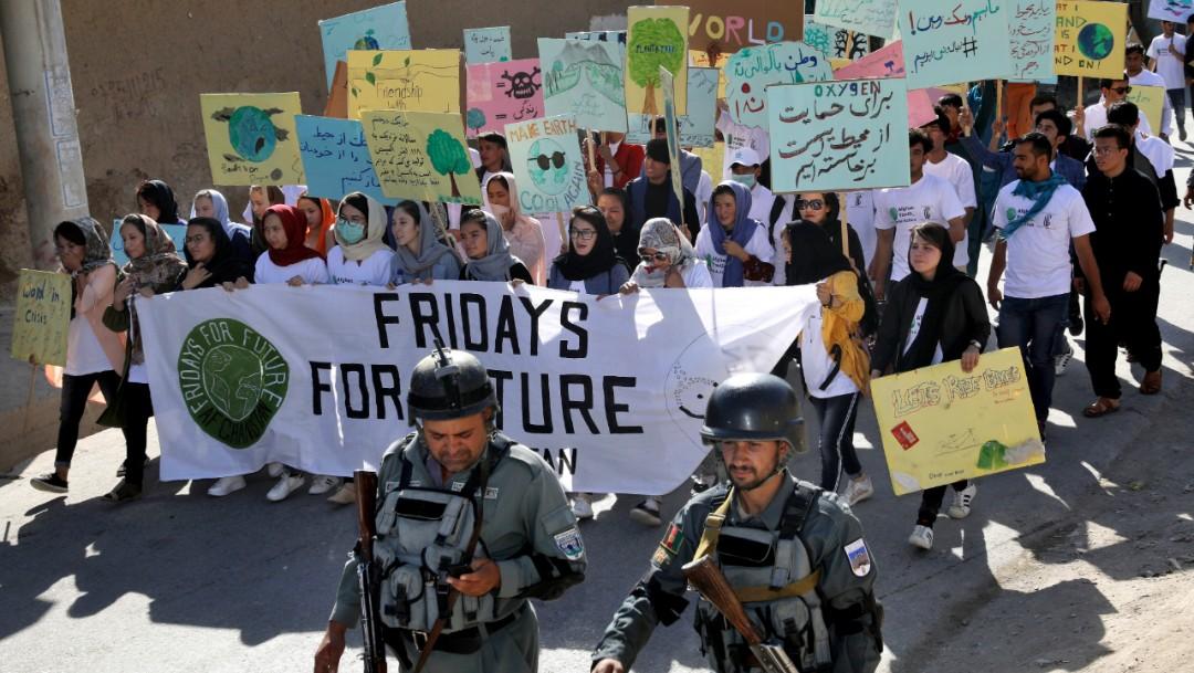 Foto: Se registraron marchas contra el cambio climático en Afganistán, 20 septiembre 2019