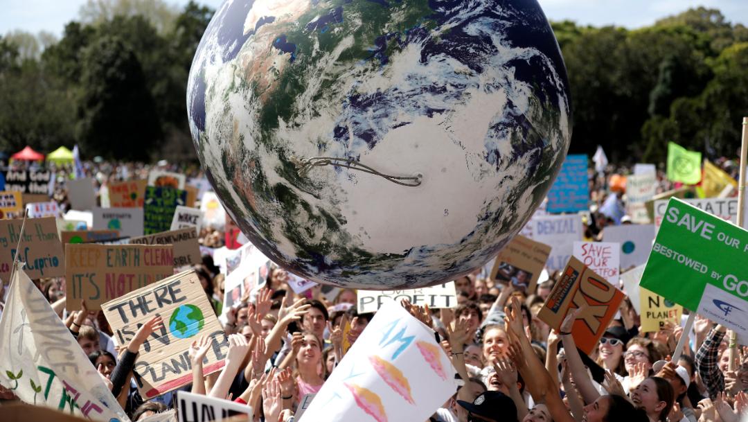 Foto: Los actos comenzaron en Australia con marchas en 110 poblaciones, 20 septiembre 2019