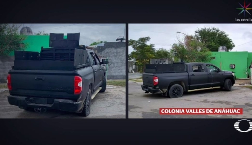 Imágenes de camioneta utilizada en enfrentamiento, en Nuevo Laredo, contradicen versiones originales