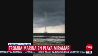 FOTO: Video Tromba Marina Playa Colima