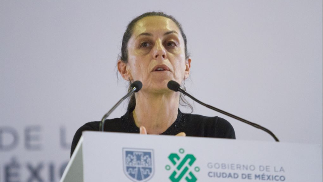 Foto: Claudia Sheinbaum en la explanada del Palacio de los Deportes, 26 de septiembre de 2019 (VICTORIA VALTIERRA /CUARTOSCURO.COM)