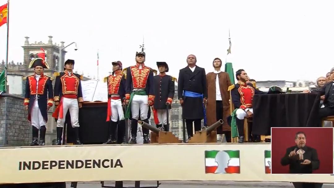 FOTO Carro alegórico que representa Independencia de México en desfile militar del 16 de septiembre (YouTube)