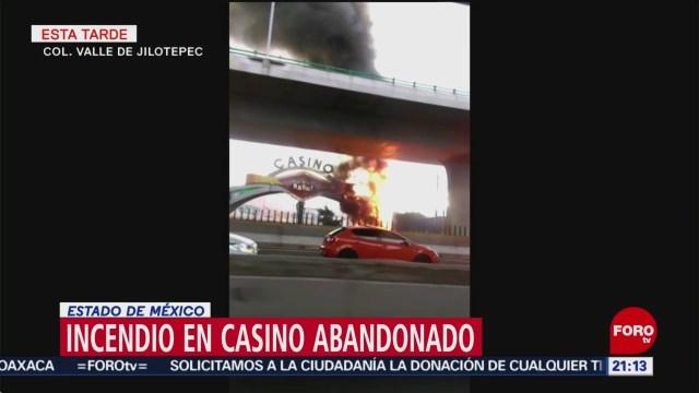 FOTO: Casino abandonado se incendia en el Estado de México, 8 septiembre 2019