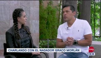 Charlando con el nadador Graco Morlán