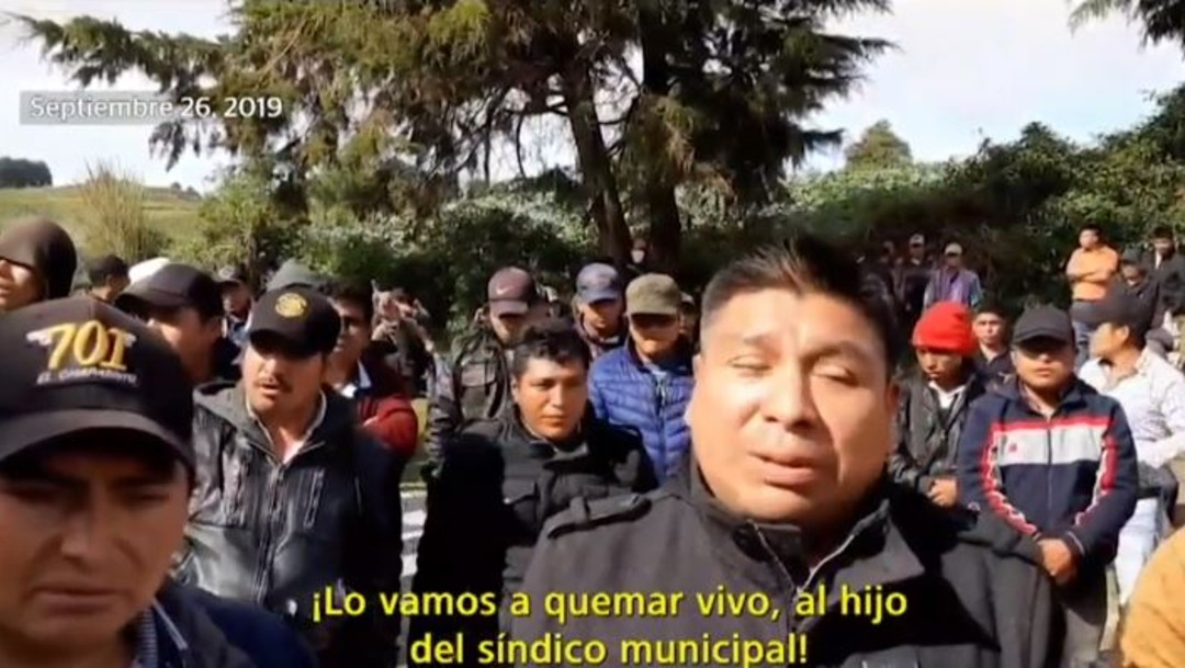 Grupo amenaza con quemar vivo a hijo de síndico en Chamula, Chiapas