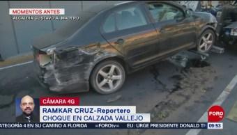FOTO: Choca automovilista en Calzada Vallejo tras quedarse dormido, 1 septiembre 2019