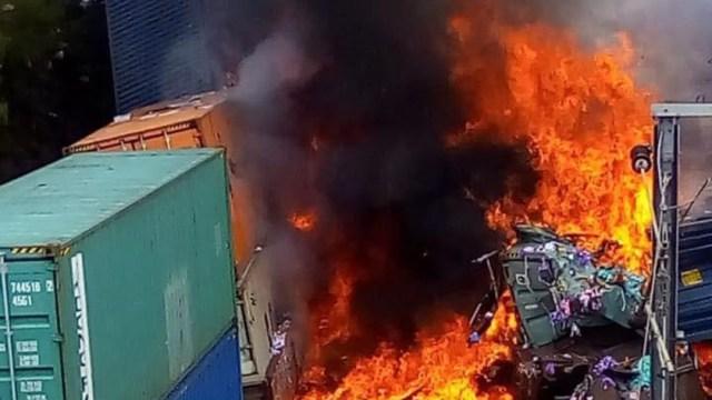 Un presunto robo pudo haber ocasionado el choque de los trenes, en Hidalgo. (Twitter: @patrakin)