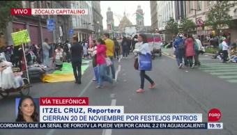 FOTO: Cierran la calle 20 de noviembre por festejos patrios, 14 septiembre 2019