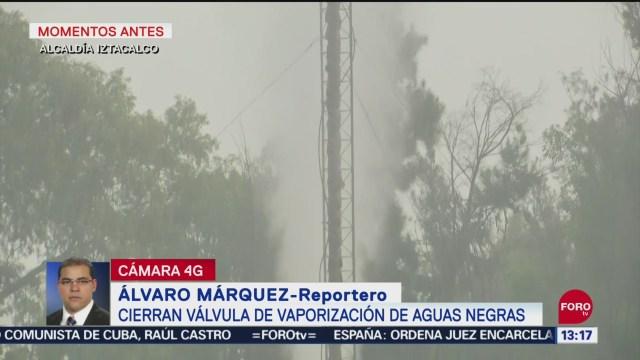 FOTO: Cierran Válvula Vaporización Aguas Negras Iztacalco