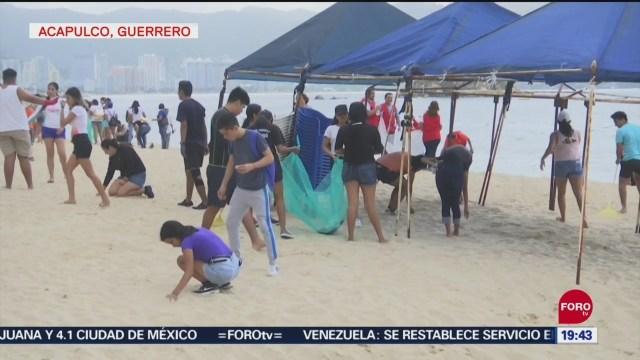 Foto: Limpian Playas Acapulco Guerrero 21 Septiembre 2019