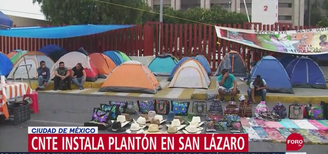 Foto: Cnte Instala Plantón San Lázaro Hoy 10 Septiembre 2019