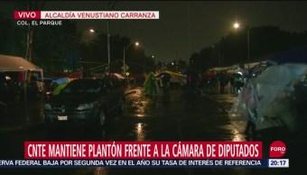 Foto: Cnte Mantiene Plantón Frente Cámara Diputados 18 Septiembre 2019