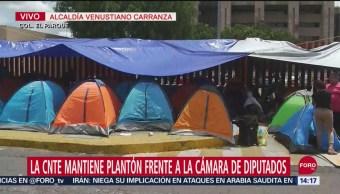 FOTO: CNTE Mantiene Plantón Frente Cámara Diputados,