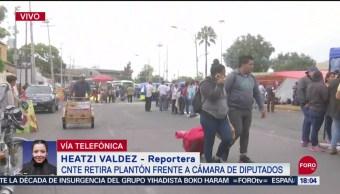 FOTO: CNTE Retira Plantón Cámara Diputado