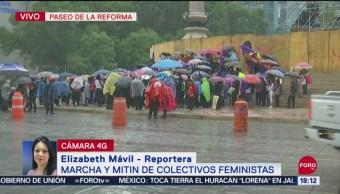 FOTO: Colectivo Feminista Arriba Glorieta Ángel Independencia