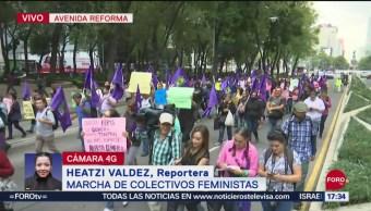 FOTO: Colectivos Feministas Continúan Marcha Reforma