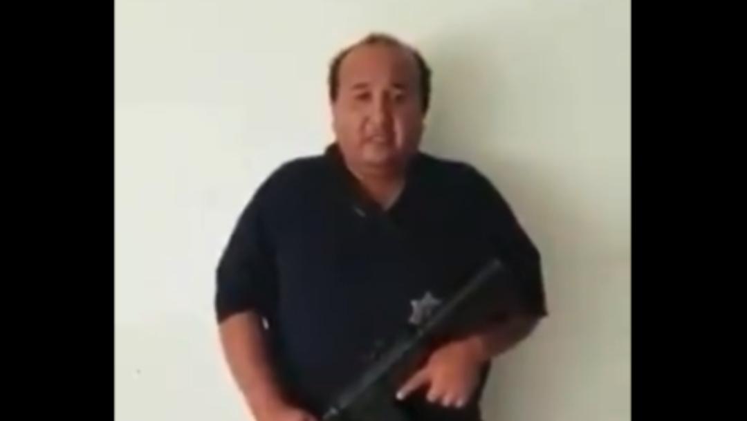 Foto: Presuntamente fue secuestrado por integrantes del CJNG, quienes subieron un video del uniformado momentos antes de ser ejecutado, 22 de septiembre de 2019 (Noticieros Televisa)