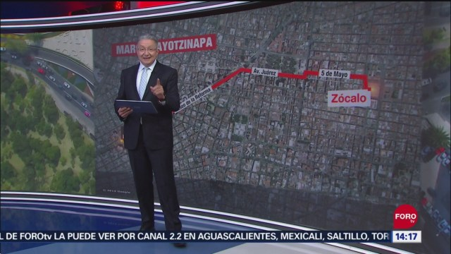 FOTO: Conoce Ruta Marcha Por 43 Desaparecidos Ayotzinapa