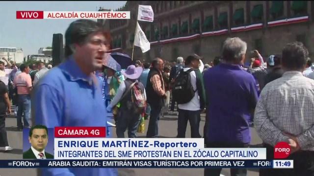 Foto: Contingentes SME Se Unieron Protestas Zócalo CDMX