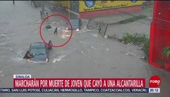Foto: Marcha Mujer Murió Ahogada Coladera Culiacán 9 Septiembre 2019