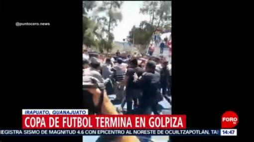 FOTO: Copa de futbol termina en golpiza en Irapuato, 1 septiembre 2019