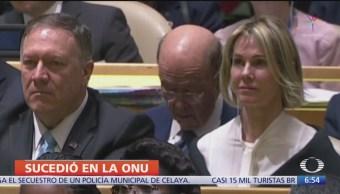 Curiosidades durante discurso se Trump en la ONU