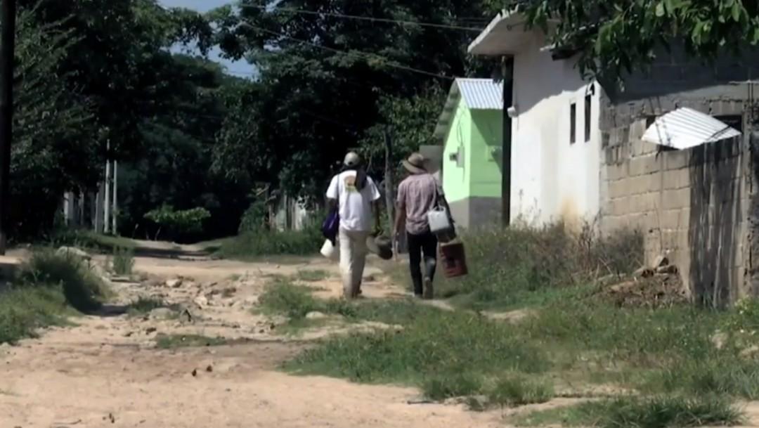 Foto: Damnificados de sismo en Chiapas