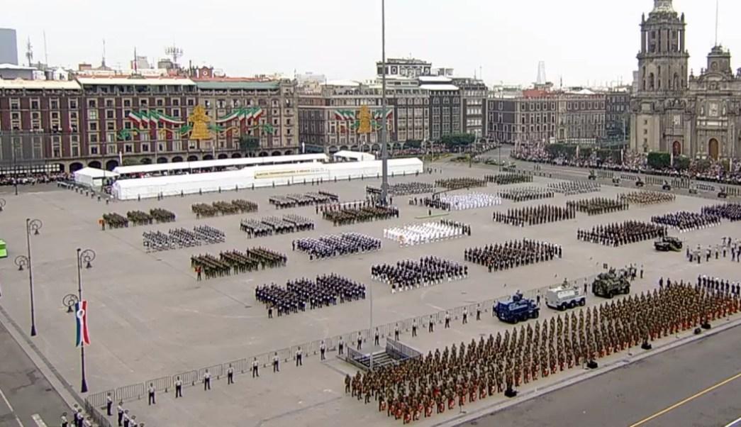 FOTO Inicia desfile militar 2019, primero con la participación de la Guardia Nacional (YouTube)