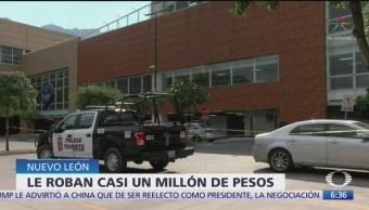 Despojan a un hombre de casi de un millón de pesos en Nuevo León