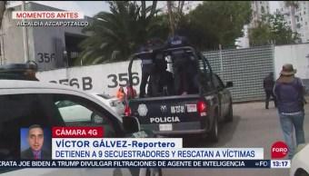 Detienen a nueve presuntos secuestradores en Tláhuac