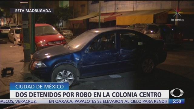 Detienen a presuntos delincuentes en la colonia Morelos, CDMX