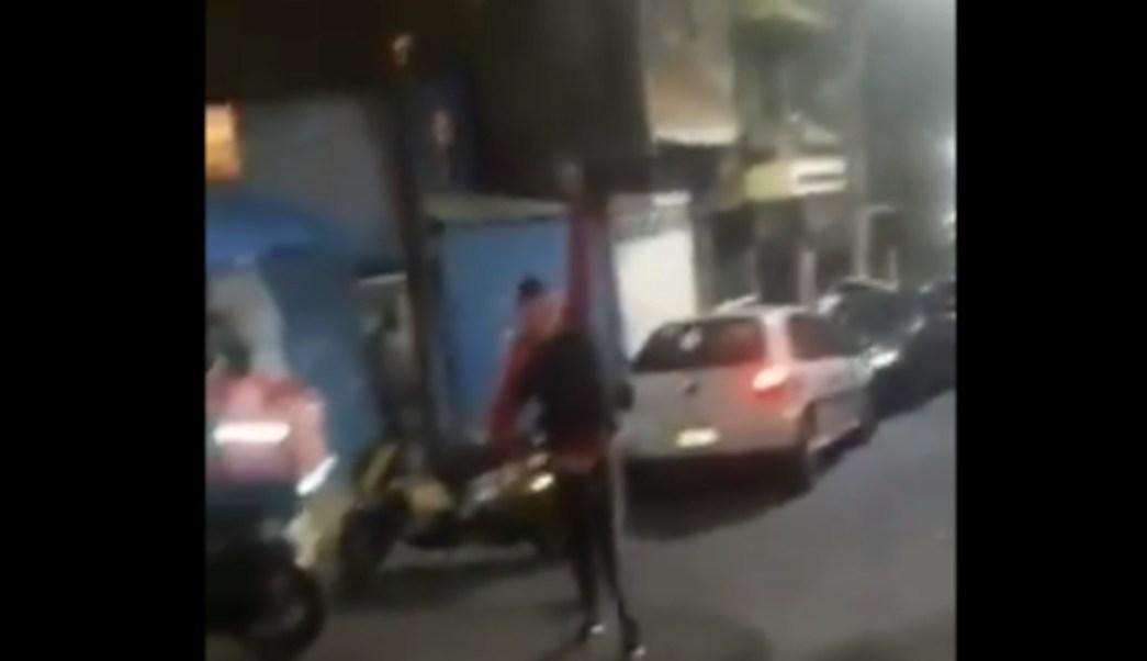 """FOTO Banda de """"El Maestrín"""", responsable por disparos al aire de Álvaro Obregón, CDMX (Twitter)"""