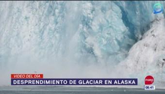 #ElVideodelDía: Desprendimiento de glaciar en Alaska