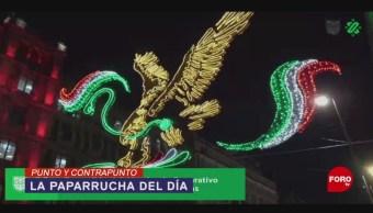 Foto: Claudia Sheinbaum Encendido Decoración Zocalo Viva Amlo 5 Septiembre 2019