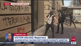 FOTO: Encapuchados Realizan Disturbios Durante Marcha CDMX