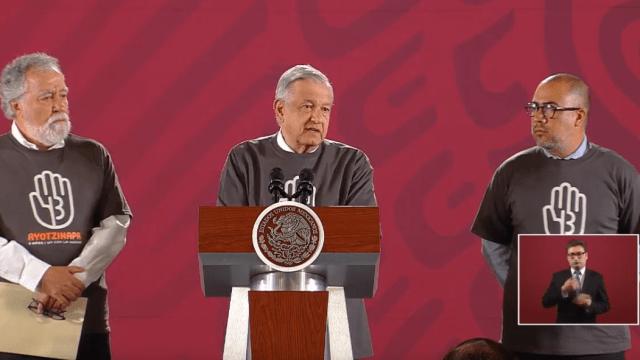 Foto: Alejandro Encinas, López Obrador y Omar Gómez Trejo, 26 de septiembre de 2019, Ciudad de México