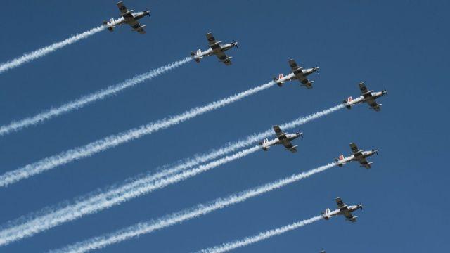 Ensayo de desfile aéreo